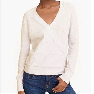 NWT J.CREW Faux-Wrap Top In Textured Crepe Small